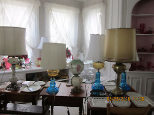 Antique Oil Lamps and Cranberry Glass Collection for Sale Kitchener / Waterloo Kitchener Area image 3
