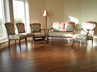 5-Piece Antique Settee