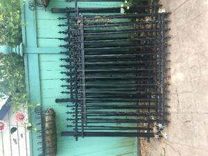 Gated Fence OR Pool Fence - Black, nice detailing, No Delivery