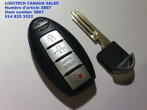 4 buttons NEW Smart Key keyless entry remote for 2007-2012 Nissa