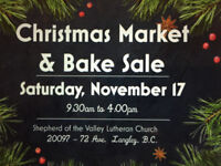 Vendor Tables available at Church Christmas Market