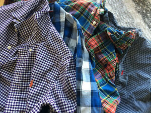 4 almost new boys size 7 Ralph Lauren dress shirts