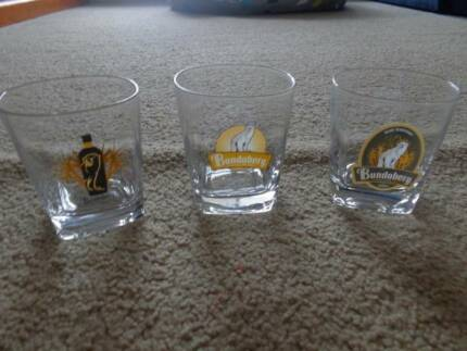 3 x Bundaberg Rum Glasses
