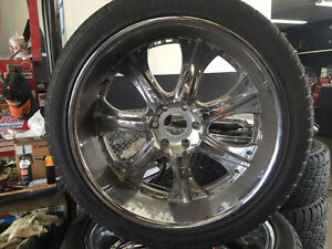 "24"" Chrome Wheels Chevy 6 bolt"