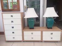 SIDE CABINETS ALSO 5 DRAW UNIT