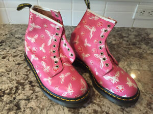 Pink Butterfly Doc Martens