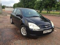 HONDA CIVIC 1.6 SE EXECUTIVE VTEC 5 DOOR BLACK 12 MONTHS MOT SERVICE HISTORY 2 KEYS HEATED LEATHER