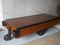 1920's Factory Trolly Coffee Table