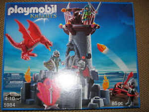 "New"" large playmobile Castle with Dragons and knights..."""
