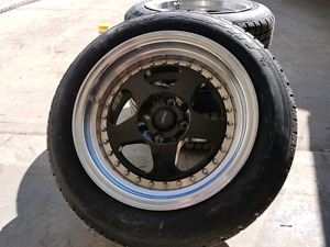 """14"""" 4 bolt rims and tires"""