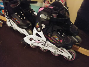 Youth Girls light up rollerblades Sz. 1 to 4