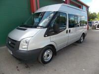 Ford Transit 140ps,9 seat shuttle minibus. F/r a/con.