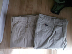2 PAIRS OF DRESS PANTS SIZE:  34