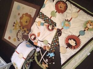 Nojo 7 Piece Crib Set & Room Decor