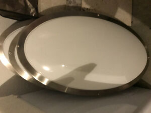 "Large ceiling light 3feet long 18"" wide smooth and modern"