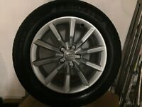 Set of 4 Genuine Audi Q3 Alloy Wheels