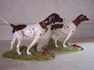 PAIR OF POINTER DOGS ROYAL DOULTON FIGURINES