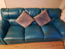 Free Teal Leather Sofa Couch
