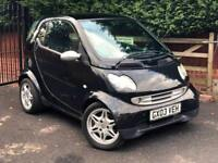 2003 Smart City Coupe PASSION SOFTOUCH (61BHP), BLACK, PETROL,