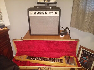 Gibson 58 Lap Steel guitar & Gibson 64 tube amp