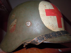 ORIGINAL CASQUE INFIRMIER ALLEMAND WW2