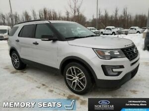 2016 Ford Explorer Sport 4WD|Dual Panel Moonroof|Adapt Cruise|Co