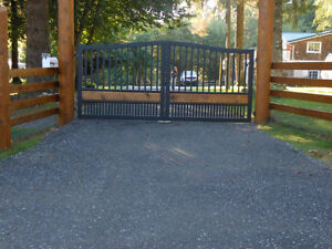 Custom Aluminum Driveway Gates & Automated Gate Opening Systems! Comox / Courtenay / Cumberland Comox Valley Area image 5