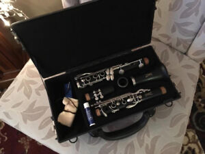 Clarinet in its case