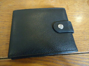 Genuine Leather Photo Wallet (Black)