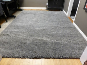 Brand New Large Costco Silver Grey Thick Shag Area Rug – 8'x10'