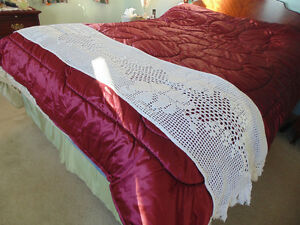 Queen Size Coverlette/Bed Scarf/Runner Hand Made