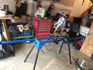 """Mastercraft  - 10"""" compound mitre saw with stand"""
