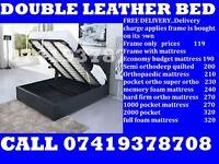 kingsize leather Bed base Including Mattress