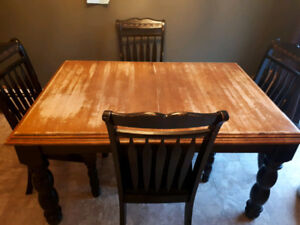 Sturdy Table With 6 Chairs, Asking $230obo