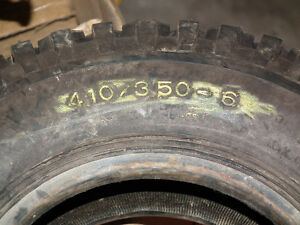 TURF TIRE  410 X 3.50 X 6  GOOD CONDITION