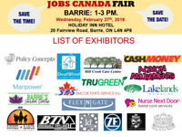 Barrie Job Fair – February 27th, 2019