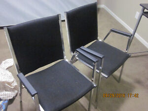 2 Nice black reading or multiple use chairs for sale. Edmonton Edmonton Area image 1