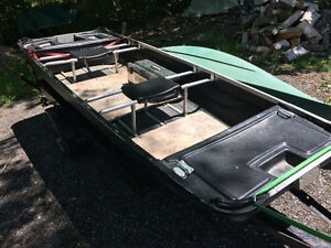 11' flat bottom boat and trailer