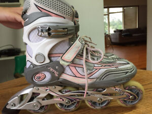 Fila Primo Air Wave Women Inline Skates White and pink
