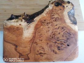 burr wood chopping board