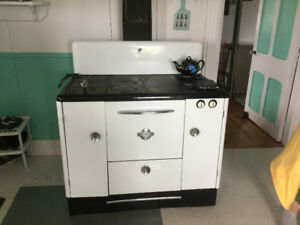 NEW REDUCED PRICE! Wood Stove with Propane Side Burners