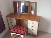 Solid pine desk/ dressing table