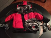 BNWT Boys Zero Xposur coat with hat and gloves - $30