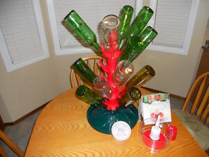 Bottle Tree and Cleaning Spout Bowl for Wine Making