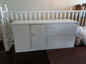 Filing Cabinet & 5pc Single Bedroom Set For Sale