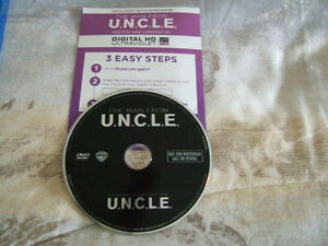 Movie on DVD & Digital copy - Man From Uncle- $1
