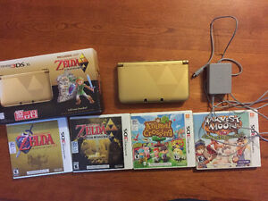 Limited edition Zelda Nintendo 3ds with 4 games