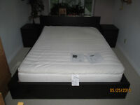 "IKEA ""Malm"" bed & Sultan mattress and 2 chests with 2 drawers"