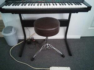 Clavier de musique support et banc