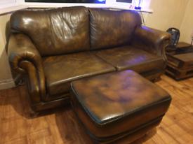 Thomas lloyd sofa and pouffe